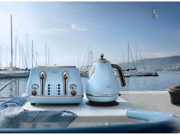 Blue 4 Slice Toaster Vintage Icona Sky Blue 4 Slice Toaster Delonghi New Zealand Toasters