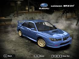 subaru impreza wrx need for speed most wanted subaru impreza wrx sti 2006 nfscars