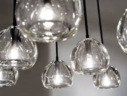 Blown Glass Pendant Lighting Modern Dining Room Design With Style Blown Glass