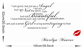 i m good small girl big world marilyn monroe quote wall sticker does not apply