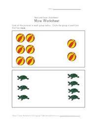 compare fewer worksheet teaching math pinterest worksheets