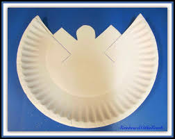paper plate angel craft laura williams