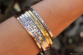 stainless steel cuff bangle bracelet images Factory wholesale custom men women popular engraved inspirational jpg