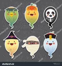 halloween halloween ghosts vector icon set stock vector 489314458