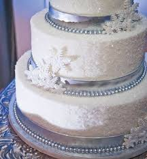 snowflake winter wedding cake topper with 6