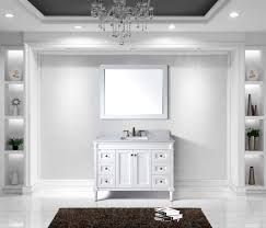 60 Inch White Vanity Virtu Usa Tiffany 48 Bathroom Vanity Cabinet In White Bathtubs Plus