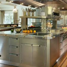 concrete countertops stainless steel kitchen island lighting