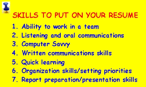 7 skills to put on resume the new canadians