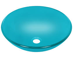 601 turquoise glass vessel sink