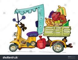 tricycle cartoon vegetable transportation cartoon stock vector 97712213 shutterstock