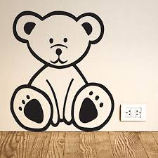 glow in the dark light bulb wall stickers bear wall sticker