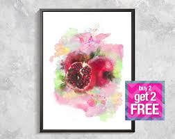 pomegranate art etsy