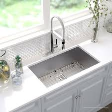 16 Gauge Kitchen Sink by Kraus Pax Stainless Steel 16 Gauge 31 5