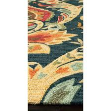 Floral Pattern Rugs Jaipur Rug1008 Brio Hand Tufted Floral Pattern Polyester Blue Red