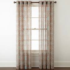 Jcpenney Home Collection Curtains Jcpenney Home Batiste Paisley Grommet Top Sheer Curtain Panel