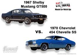 1967 camaro vs 1967 mustang 1967 shelby mustang gt500 or 1970 chevy 454 chevelle ss winner
