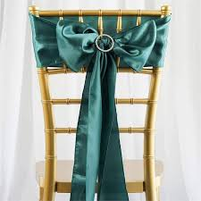 teal chair sashes satin chair sash 6x106 green 5pcs efavormart
