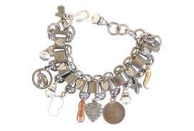 vintage charm bracelet necklace images Vintage charm bracelet omero home jpg
