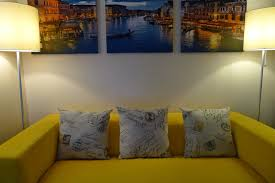 Yellow And Gray Wall Decor by Home Interior Modern Gray Yellow Living Room Decor With Small