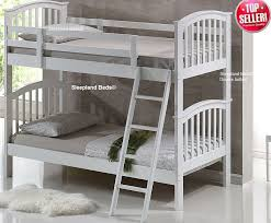 Bunk Beds And Mattress White Wooden Bunk Beds And Waterproof Mattresses