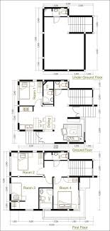 4 bedroom home plans sketchup home plan 7 5x9m with 4 bedroom home design idea