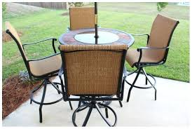 Bar Height Patio Table And Chairs Bar Height Outdoor Table Getanyjob Co