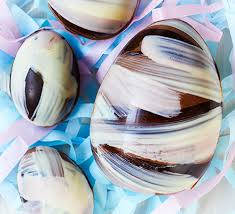 Chocolate Easter Egg Decorating Kit by Striped Chocolate Easter Egg Recipe Bbc Good Food