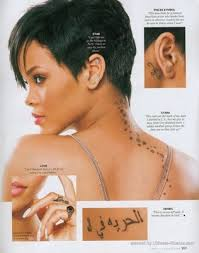 celebrity tattoo designs rihanna tattoos