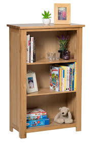 waverly oak small bookcase with adjustable shelves in light oak