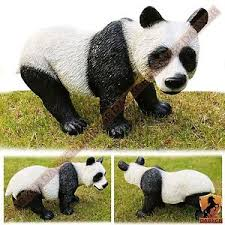 resin panda garden ornament home outdoor decorative animal figure
