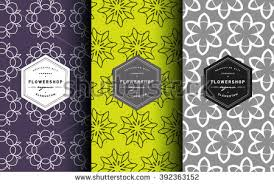vector line ornament pattern business cards stock vector 418307080