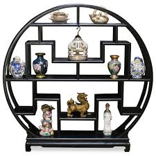 60in elmwood moon curio stand curio display cabinets and stands