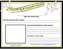 wedding guest book pages free wedding guestbook printable pages