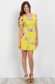 cold shoulder dress yellow floral cold shoulder dress