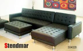 Sofa Bed Amazon by New Euro Design Black Leather Sectional Sofa Sleep Bed S0402b