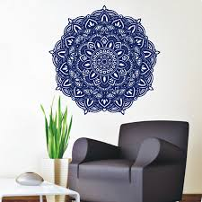 popular indian wall decals buy cheap indian wall decals lots from indian pattern wall decals art vinyl bedroom studio interior decorative wall sticker mandala flower murals