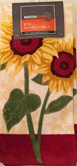 master cuisine mastercuisine 2pk kitchen towels sunflowers by master cuisine