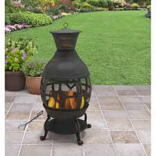 Chiminea Vs Fire Pit by Better Homes And Gardens Cast Iron Chiminea Antique Bronze