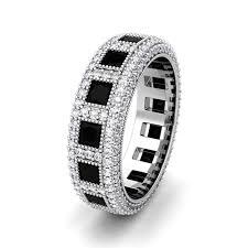 black diamond band my princess cut black diamond eternity band ring 14k gold