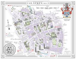 map of st mike maps illustration