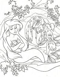 princess ariel sad coloring page princess ariel pinterest