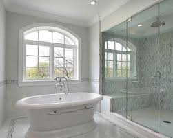 pictures of bathroom glass tile accent ideas