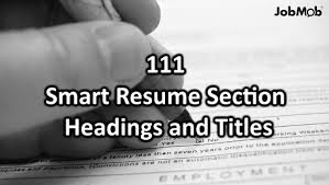 Skills Section Of Resume 111 Helpful Resume Section Headings And Titles