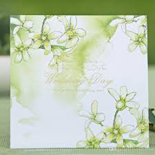 green wedding invitations green wedding invitation card floral style forever big day