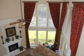 Pattern Window Curtains Beige Floral Pattern Tall Window Curtain Techethe Com