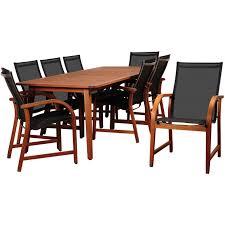 amazonia bahamas 8 person sling patio dining set with eucalyptus