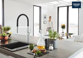 grohe essence kitchen faucet the grohe essence semi pro kitchen faucet elevates kitchens with