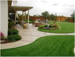 full image for modern free simple low maintenance garden designs