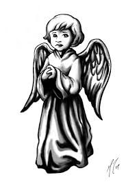 praying baby cherub tattoo design photos pictures and sketches