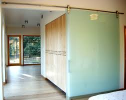 frameless glass barn door